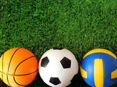 Balls for soccer, basketball and volleyball