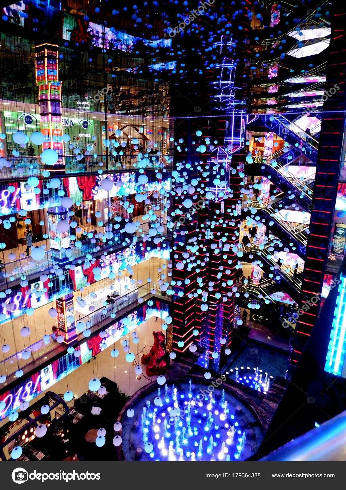 natal comercial 2018 Moscou Rússia Janeiro 2018 Europeu Evropeisky Centro Comercial  natal comercial 2018