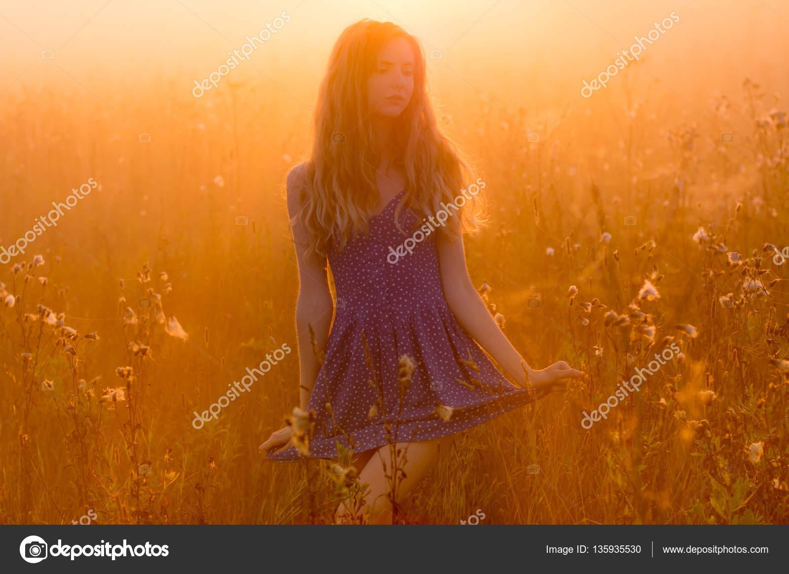 фото в тумане девушка