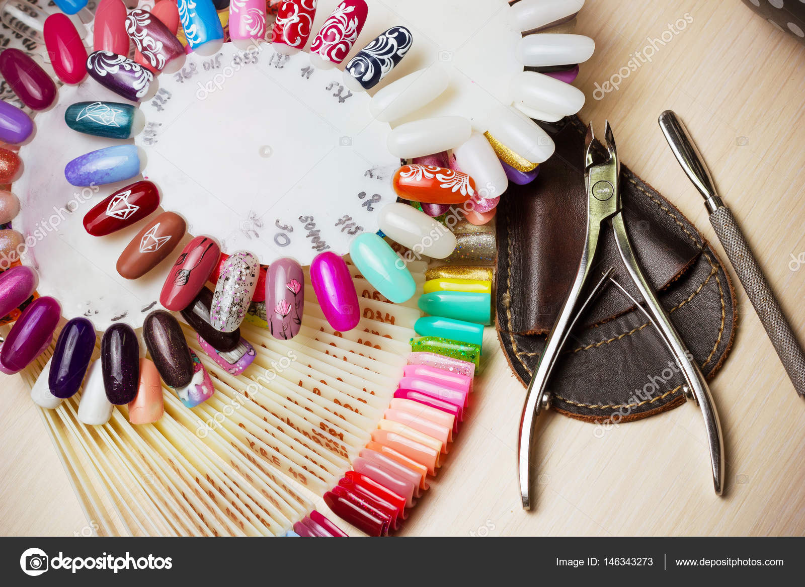 Table Full Of Manicure Utensils Manicure Tools Nail Polish Colours