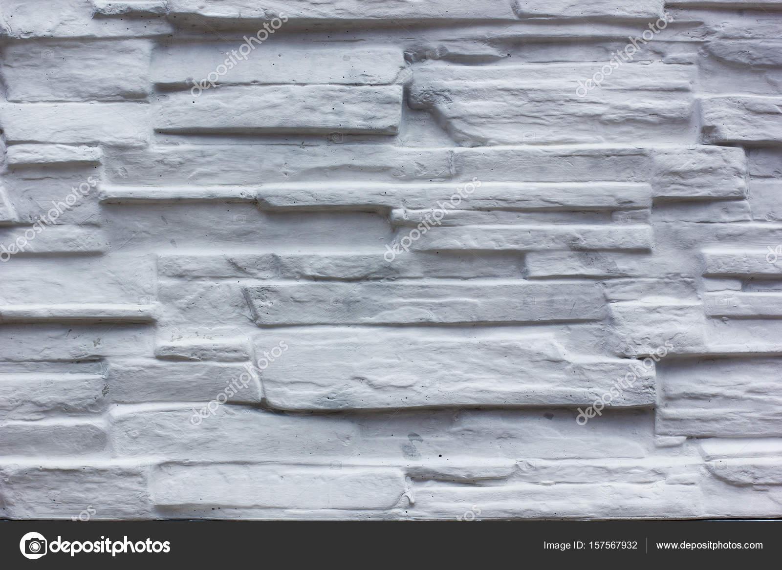Weiße Steinwand dekorative weiße schiefer steinwand oberfläche — stockfoto