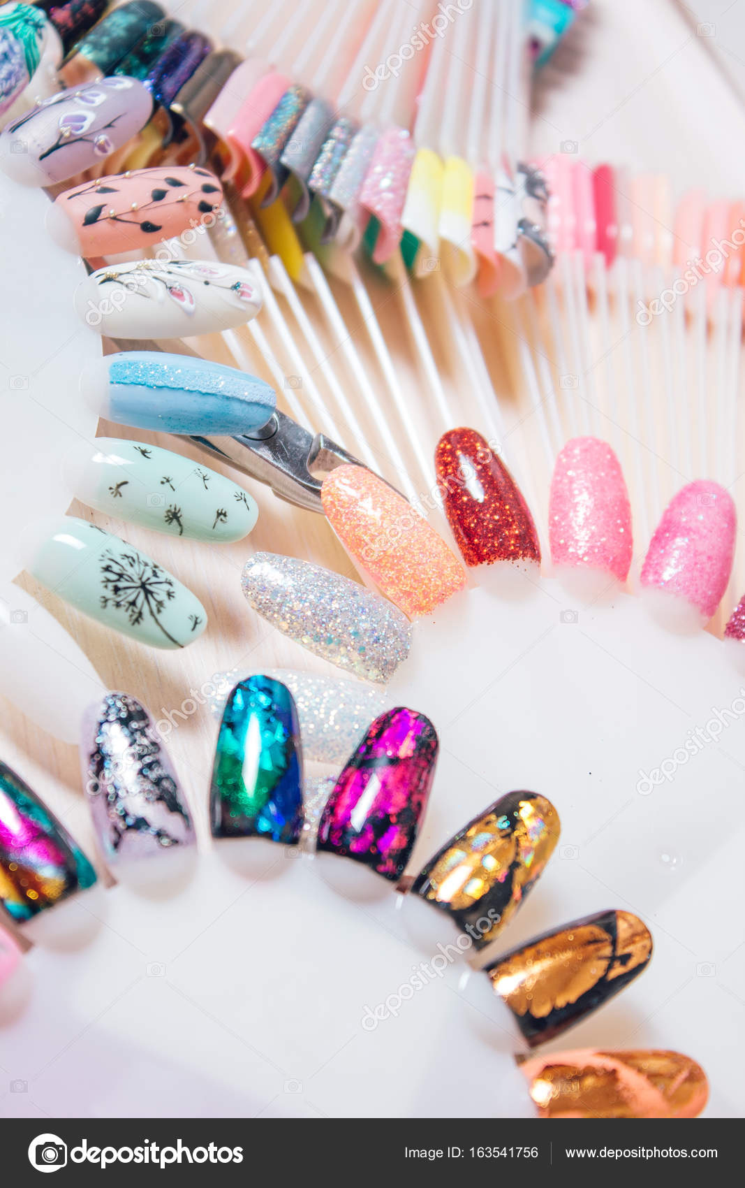 Different colorful nails polish palette for nail design set background from different colorful nails polish palette for a manicure photo by htoto1313ail prinsesfo Images