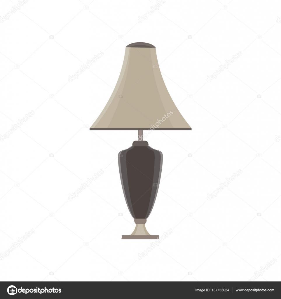 Lampe Tisch Vektor Isoliert Abbildung Moderne Möbel Licht U2014 Stockvektor
