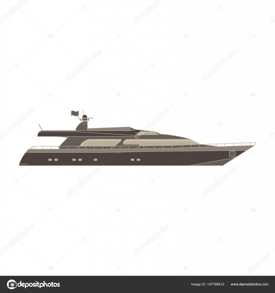 Boat Side View Cruise Ship Design Stock Vector