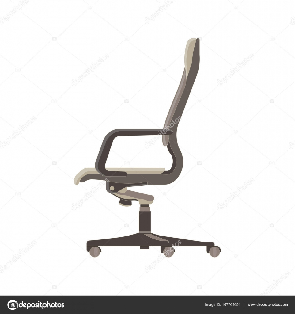 Vector office chair flat icon isolated. Furniture side view — Stock ... for office chair vector side view  75tgx
