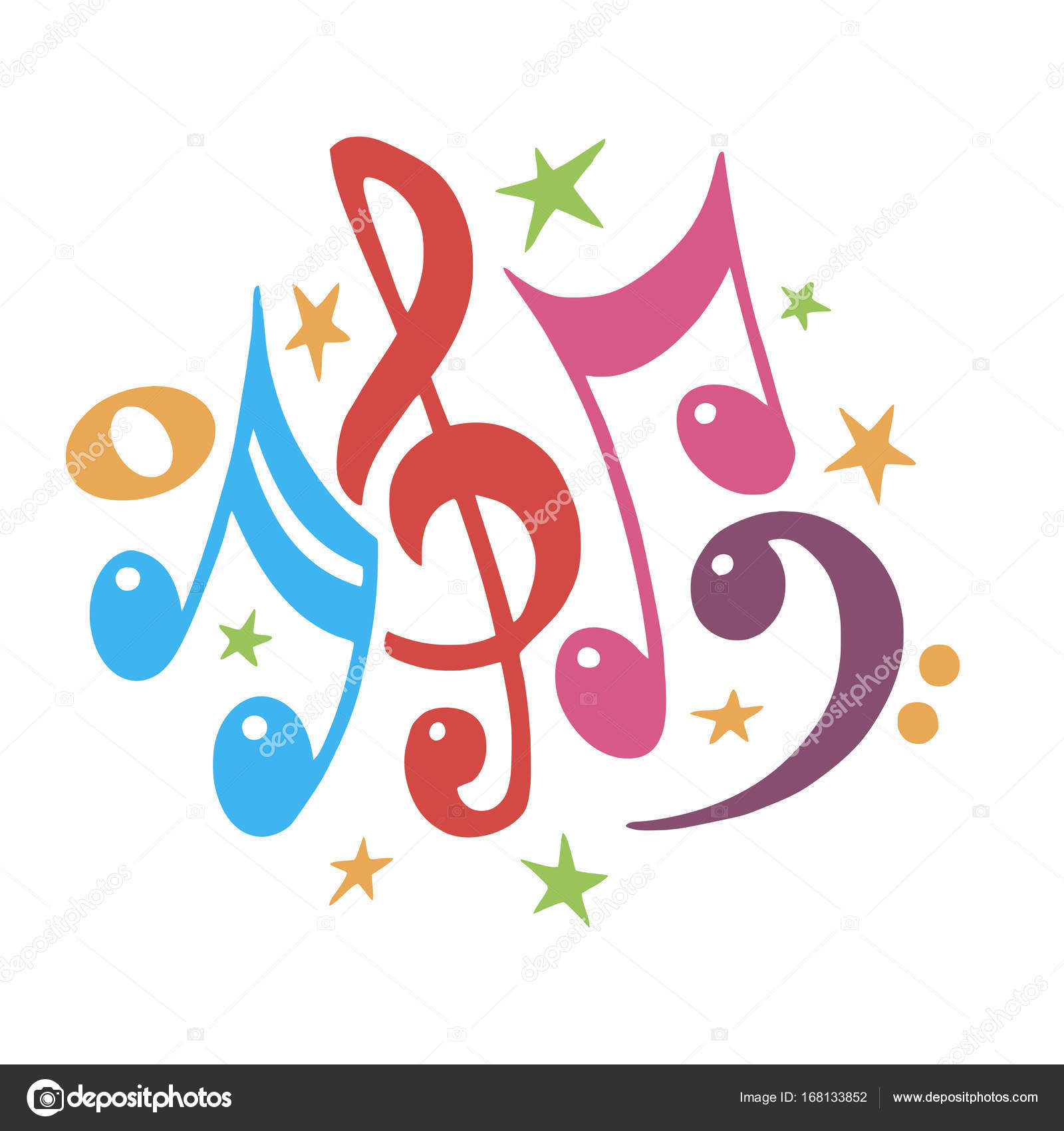 Music notes color abstract musical background vector music notes color abstract musical background vector illustrationnsural notation musicallorful notes symbolste value music staff biocorpaavc