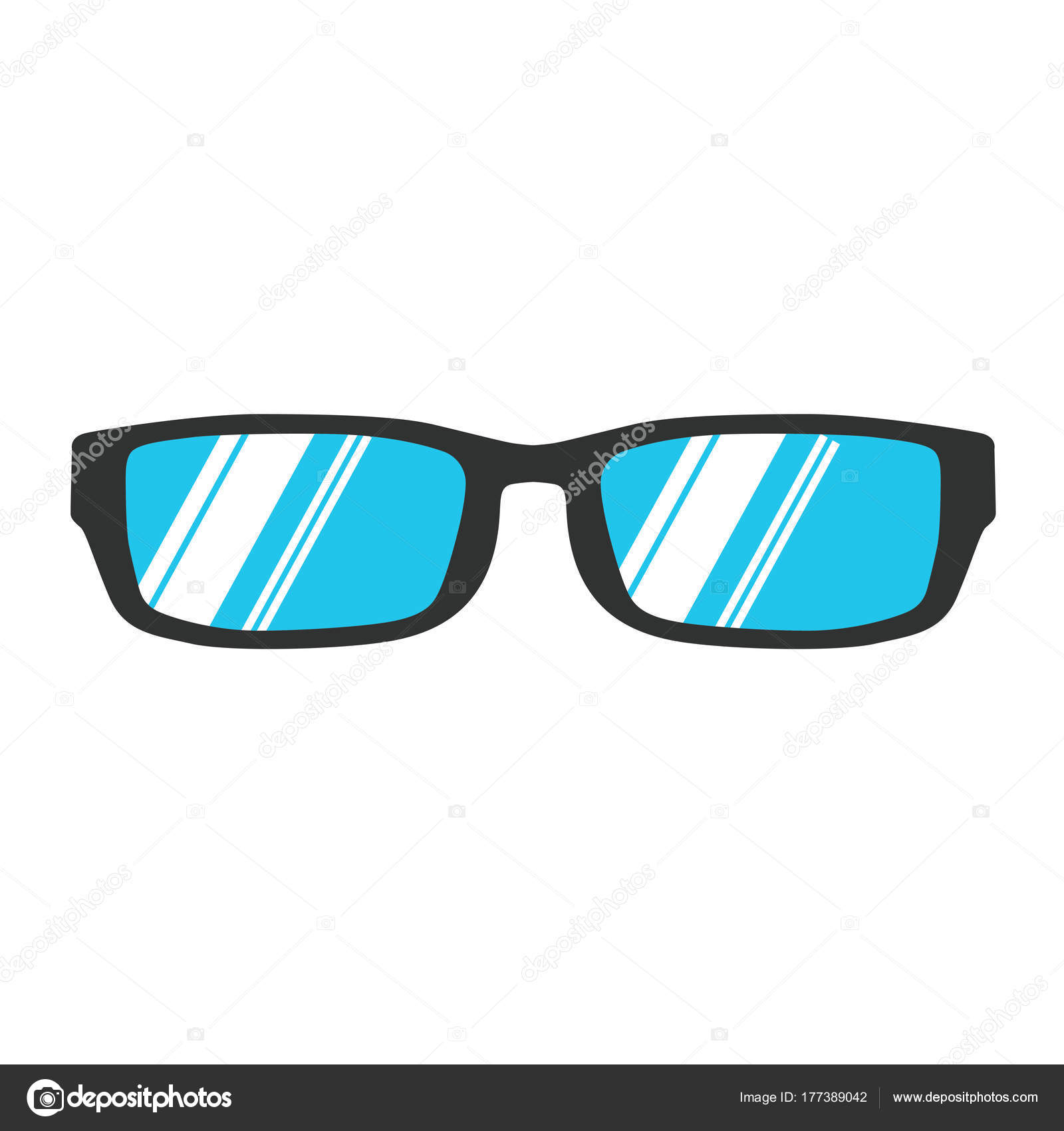 Brille lesen Symbol Vektor Illustration isoliert Auge. Blackstyle ...