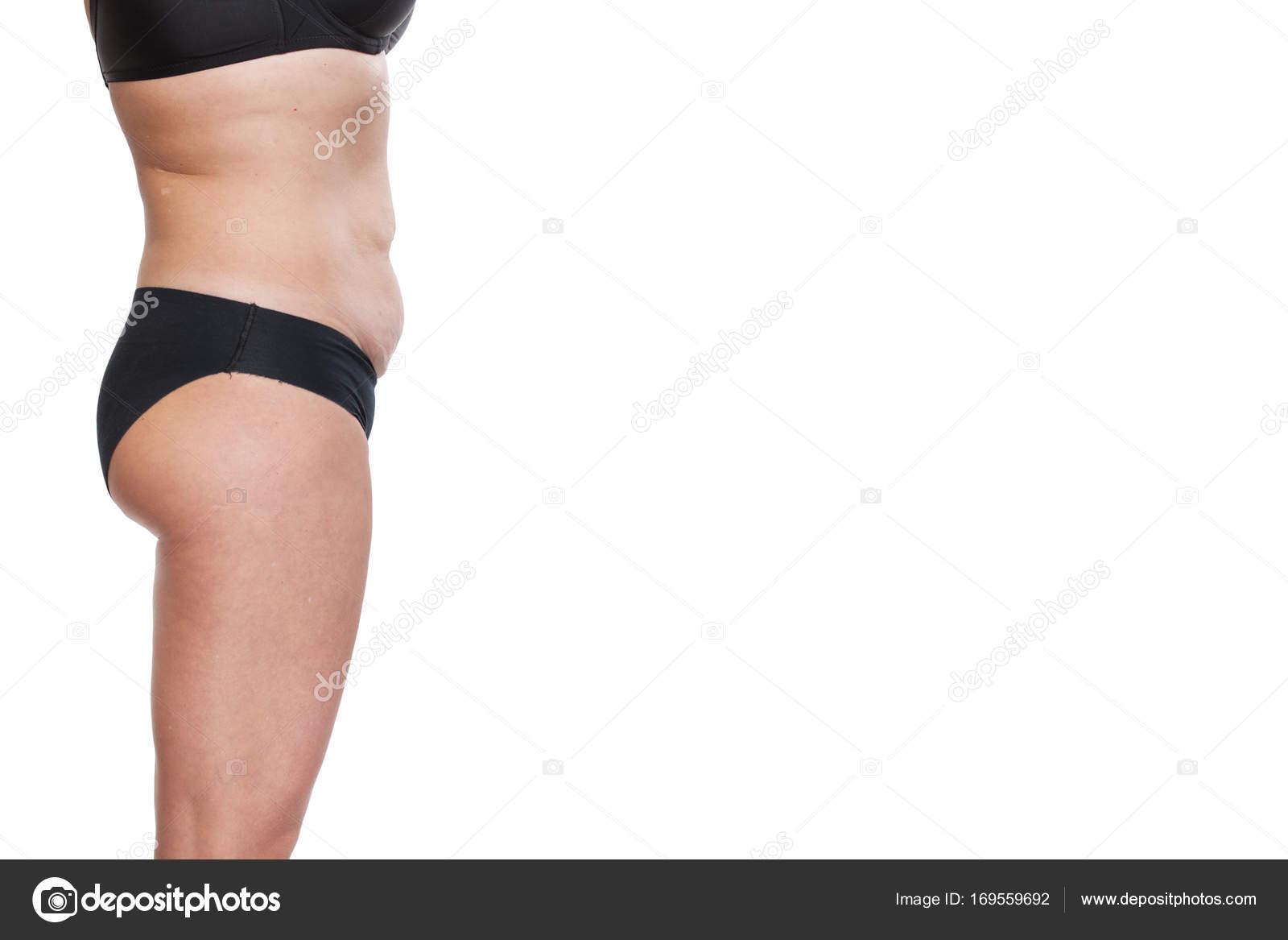 Gordito cuerpo femenino en ropa interior — Fotos de Stock ...