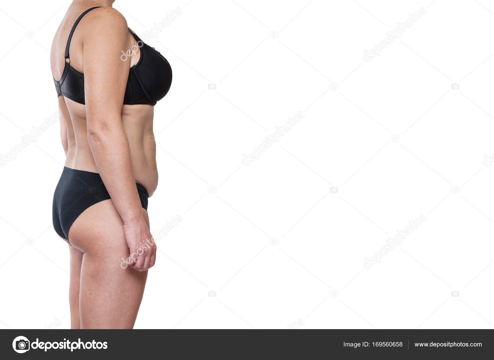 Gordito cuerpo femenino en ropa interior — Foto de stock © luzgareva ...