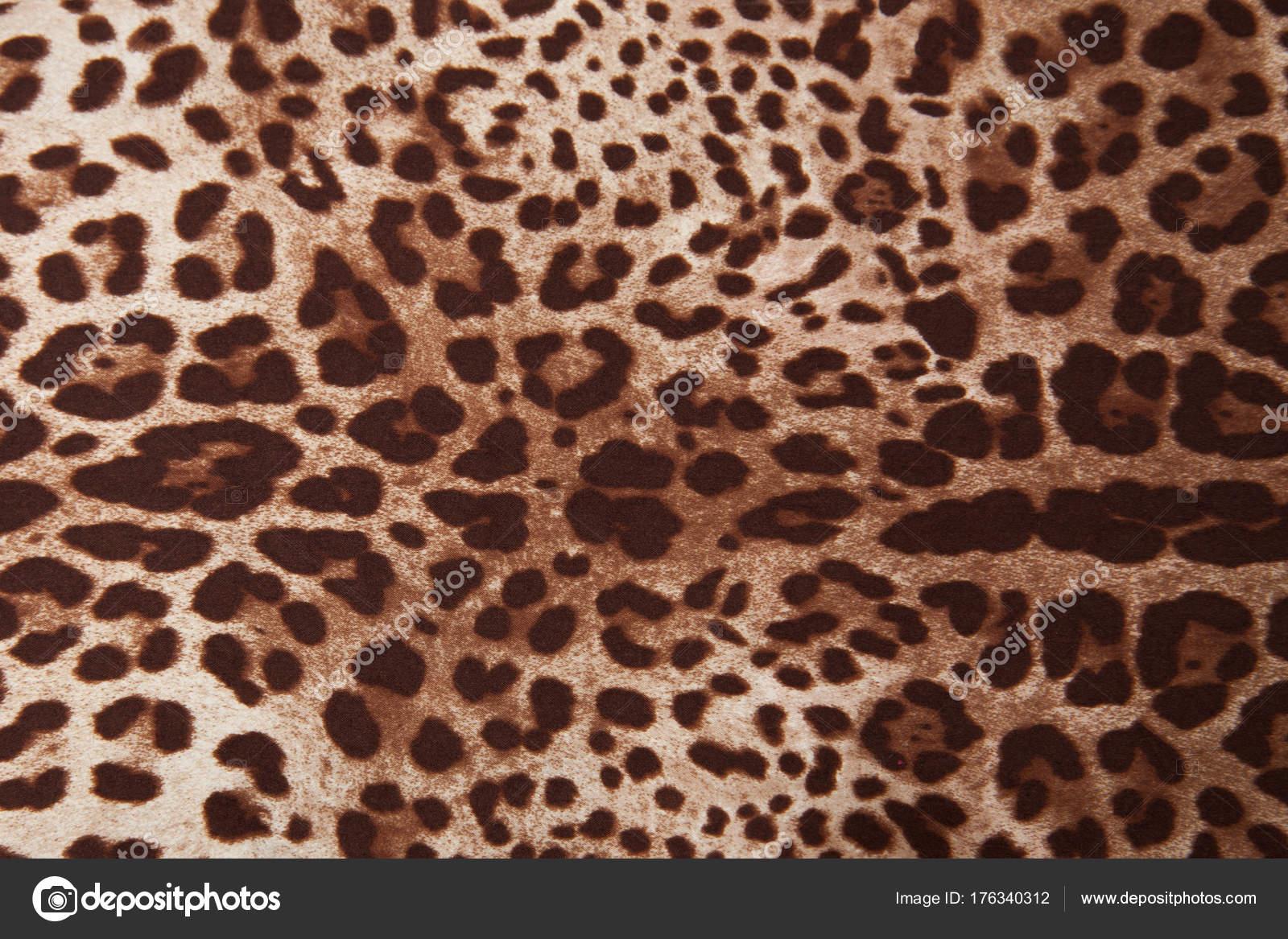 Textuur stoffen kleuren trendy natuurlijke zijde leopard stof