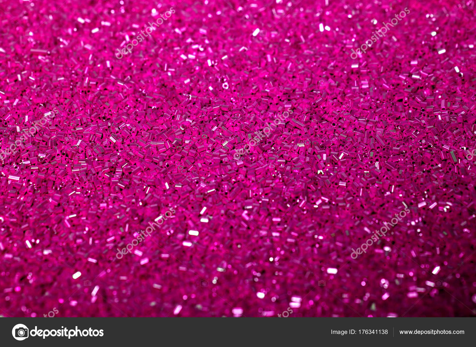 Bright Pink Sequin Background Abstract Glitter Pattern