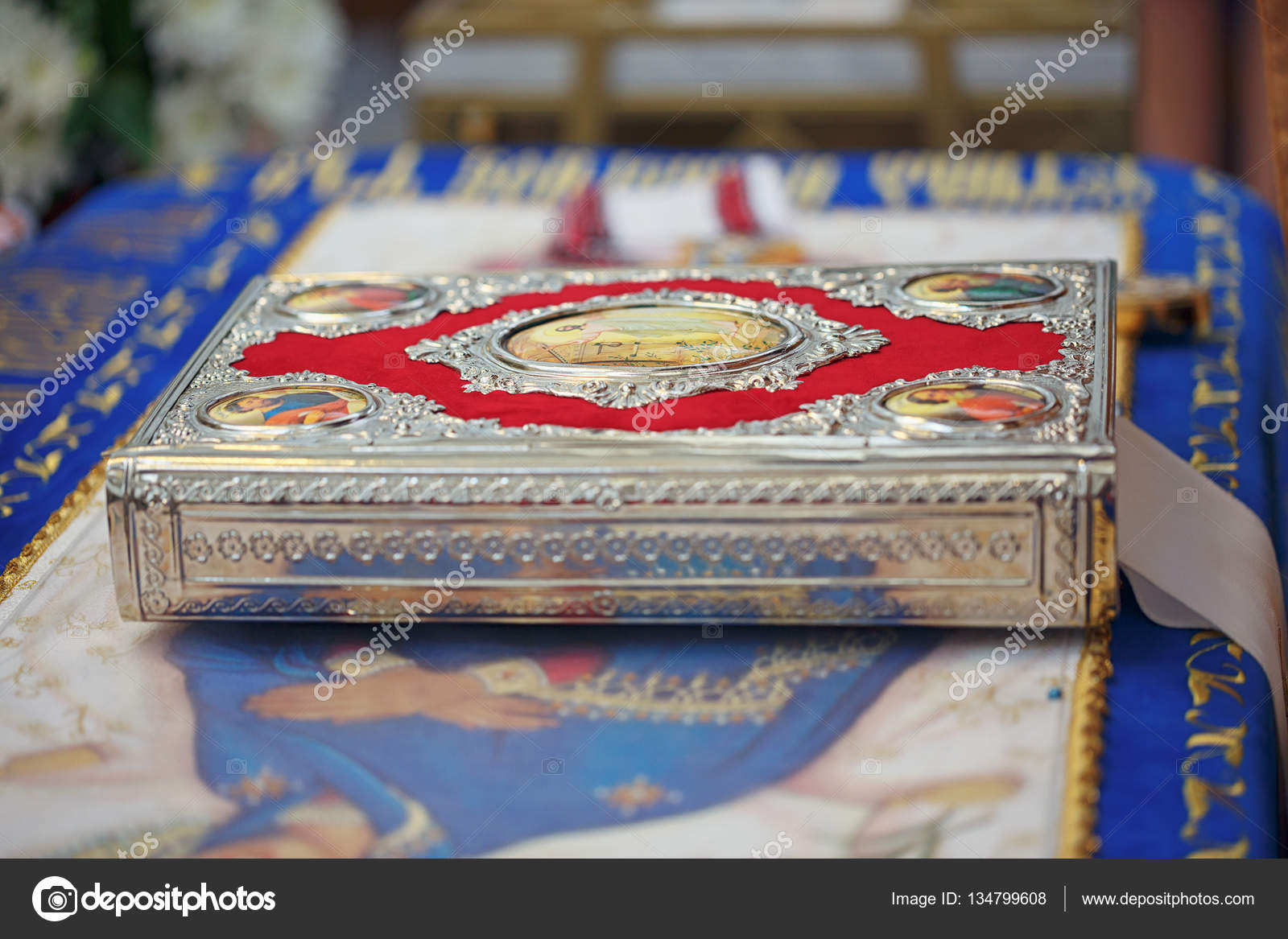 Church supplies for wedding ceremony — Stock Photo © svitt 1