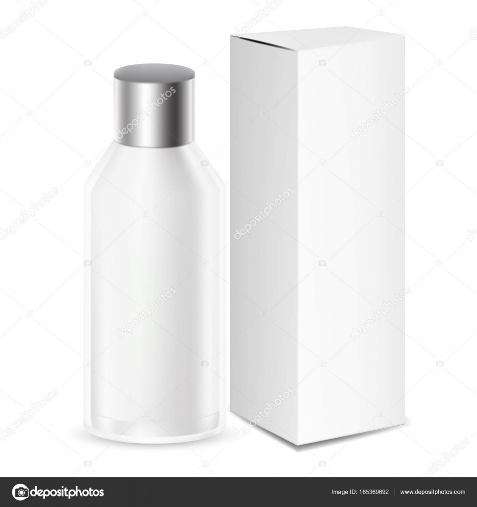 Weiß-graue Runde Kosmetik/Medizin-Flasche oder Behälter mit box ...