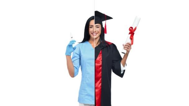 Žena v povoláních absolventů a povolání.