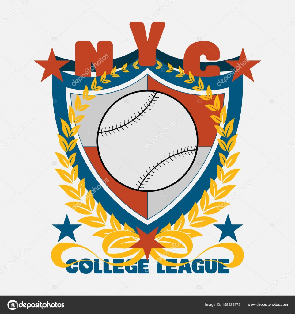 New York typography, t-shirt college league, design graphic