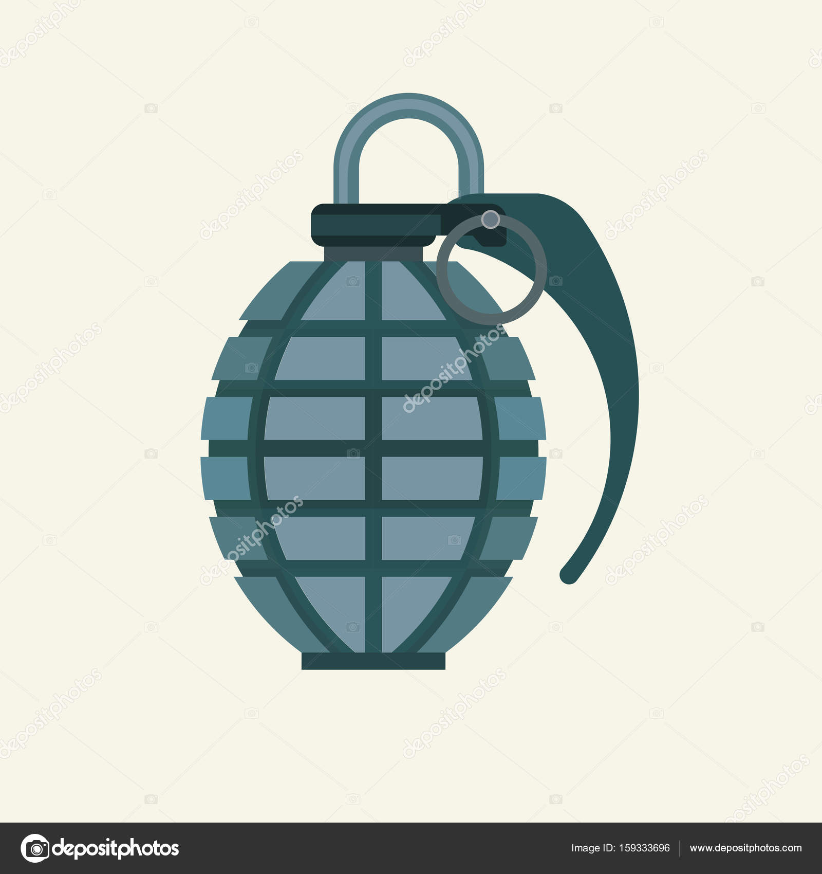 Military army explosive fragme — Stock Vector #159333696