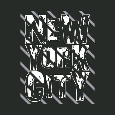 New York typography, t-shirt  NY, design graphic