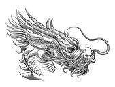 Ručně tažené čínská Dračí Hlava