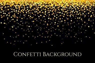 Christmas gold glitter confetti horizontal pattern