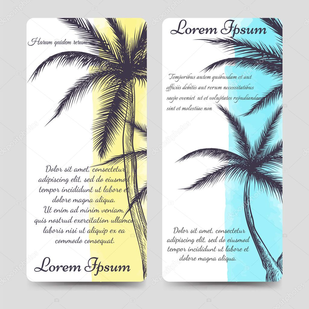 Brochure flyers template with palm tree