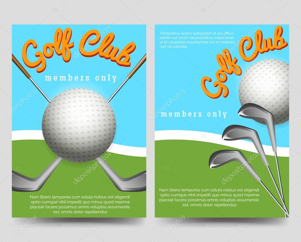 golf club brochure flyers template stock vector vectortatu