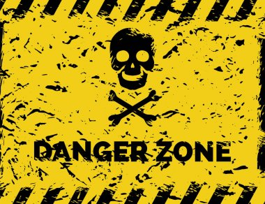 Danger zone grunge background
