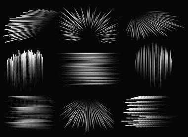 Abstract speed line patterns