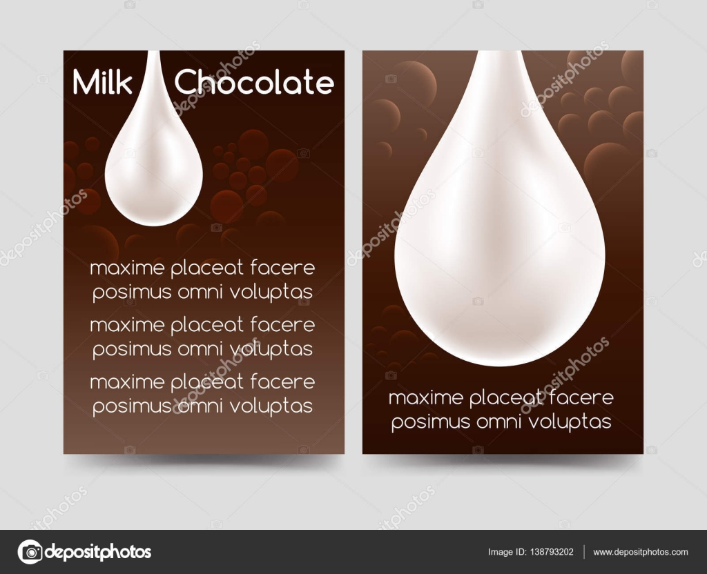 Milk chocolate drop brochure design — Stock Vector © vectortatu ...