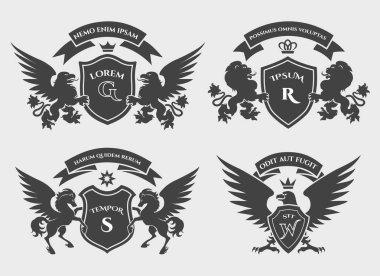 Crests logo set