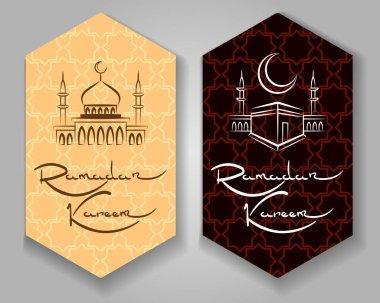 Ramadan kareem labels