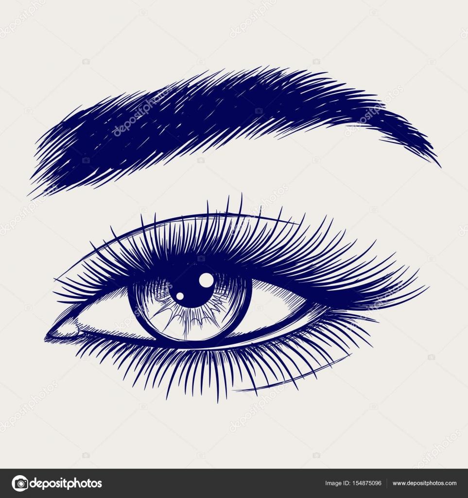 Dibujos Mujeres A Lapiz Bosquejo De Lápiz De Ojos Hermosos De