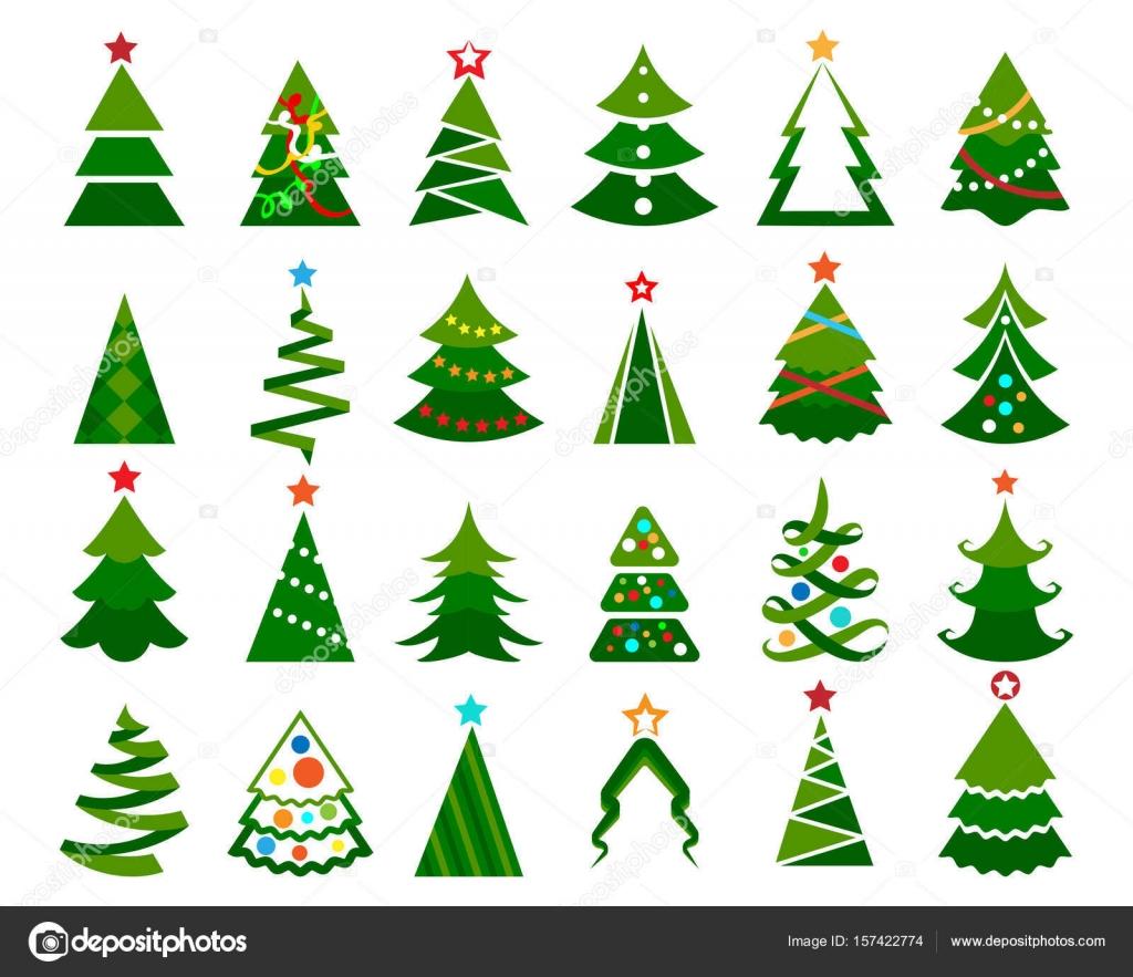 Christmas tree color set — Stock Vector © vectortatu #157422774