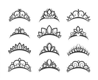 Beautiful queen tiaras set