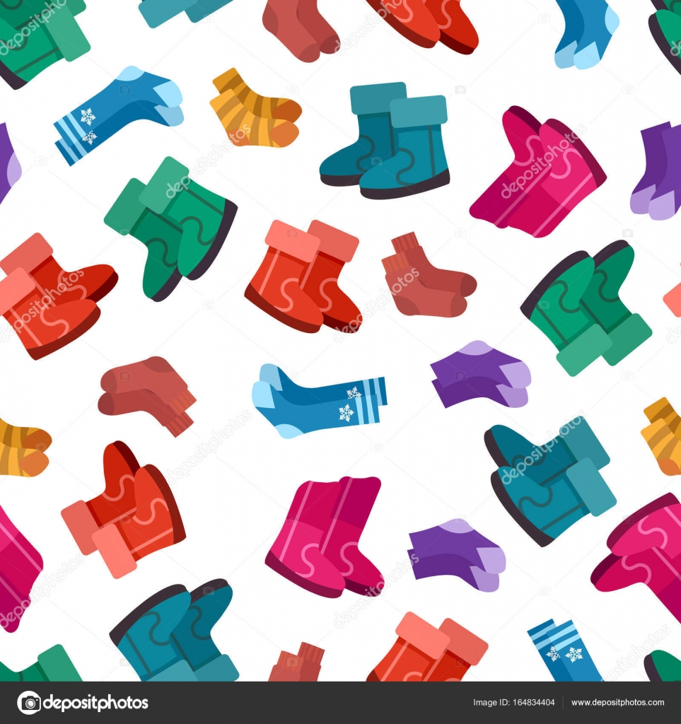Patrón sin fisuras uggs y calcetines — Vector de stock © vectortatu ...