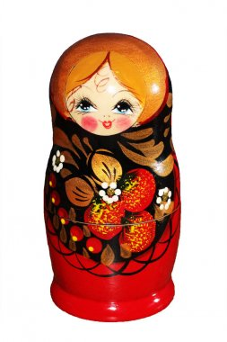 russian doll on white background