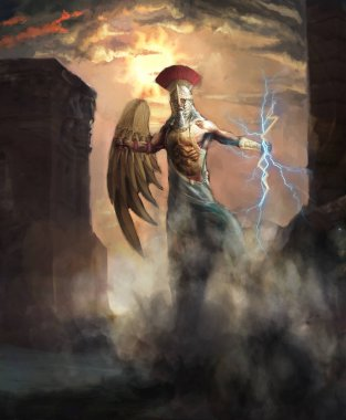 Greek god of thunder and king of gods