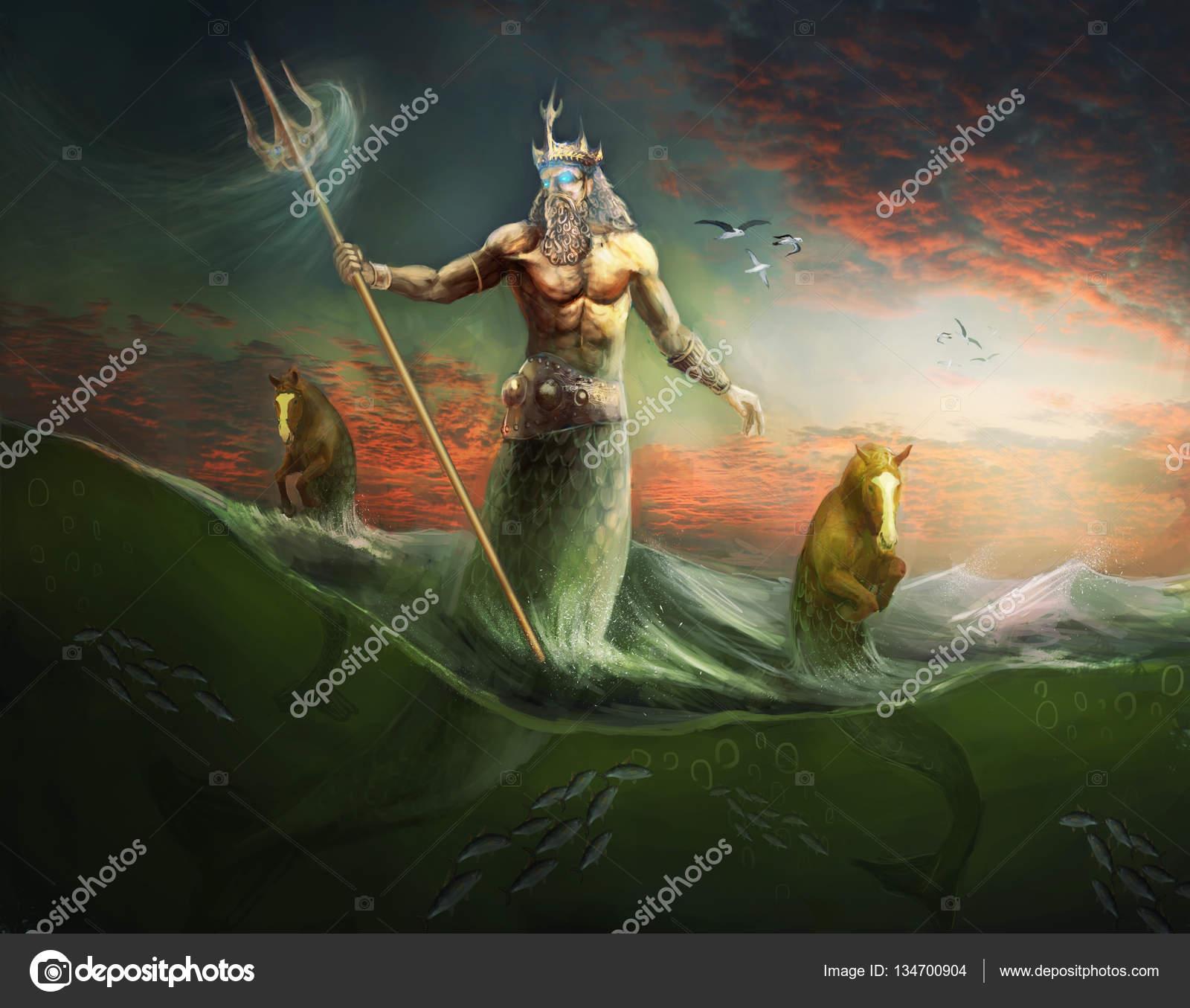 Poseidon Wallpaper Poseidon God And King Of Sea Stock