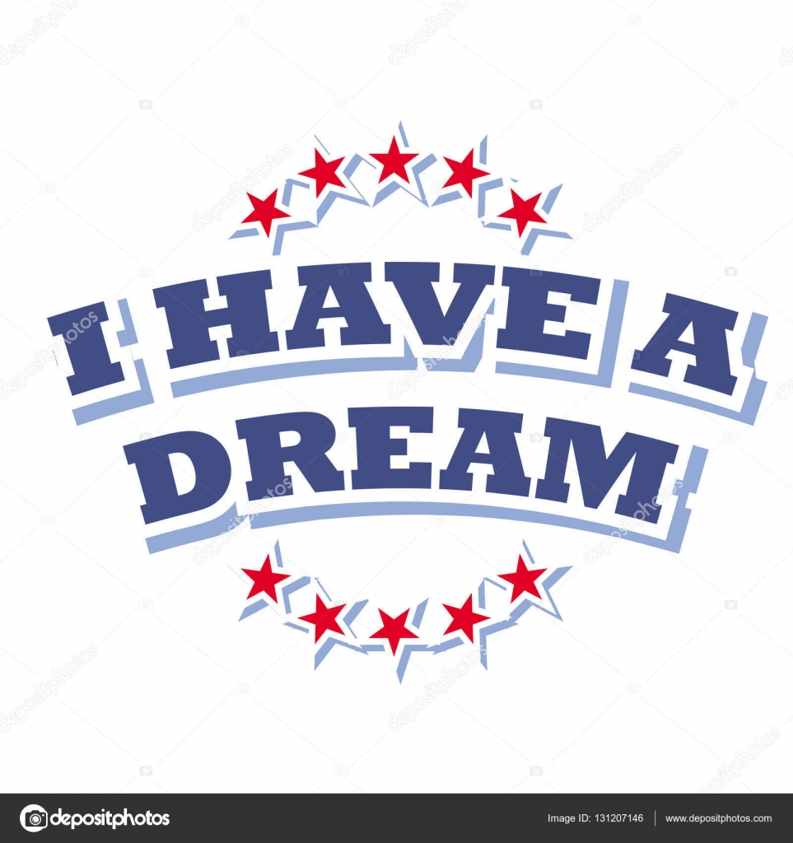 Day Jr. Martin Luther King, tengo un símbolo sueño aislado sobre ...