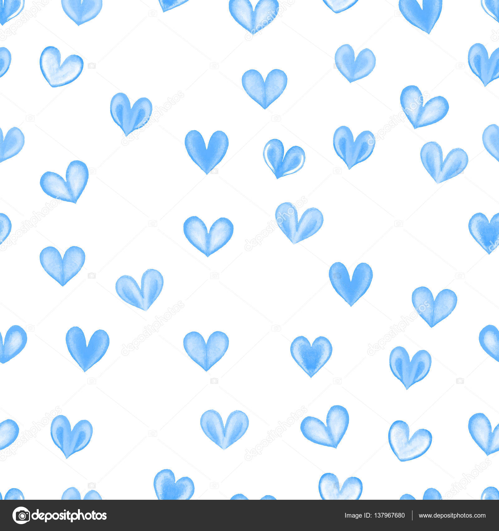 Light Blue Hearts Background
