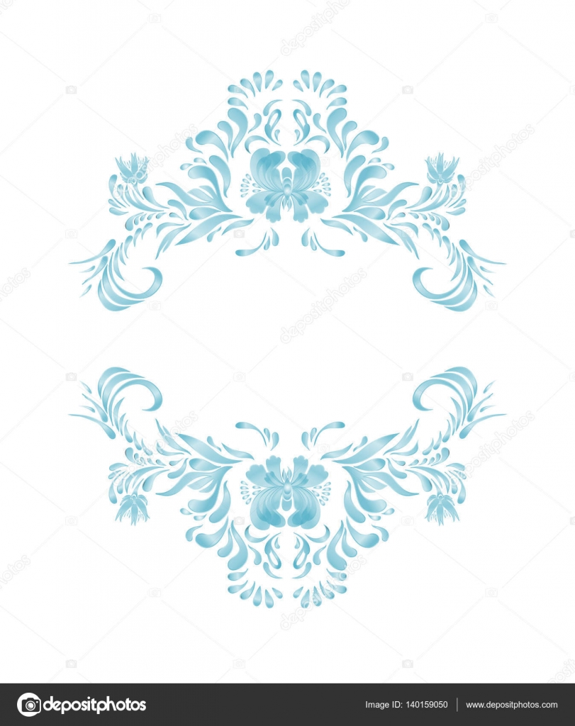 Blue Floral Frame Vector Flowers Stock Vector C Lesichkalll27