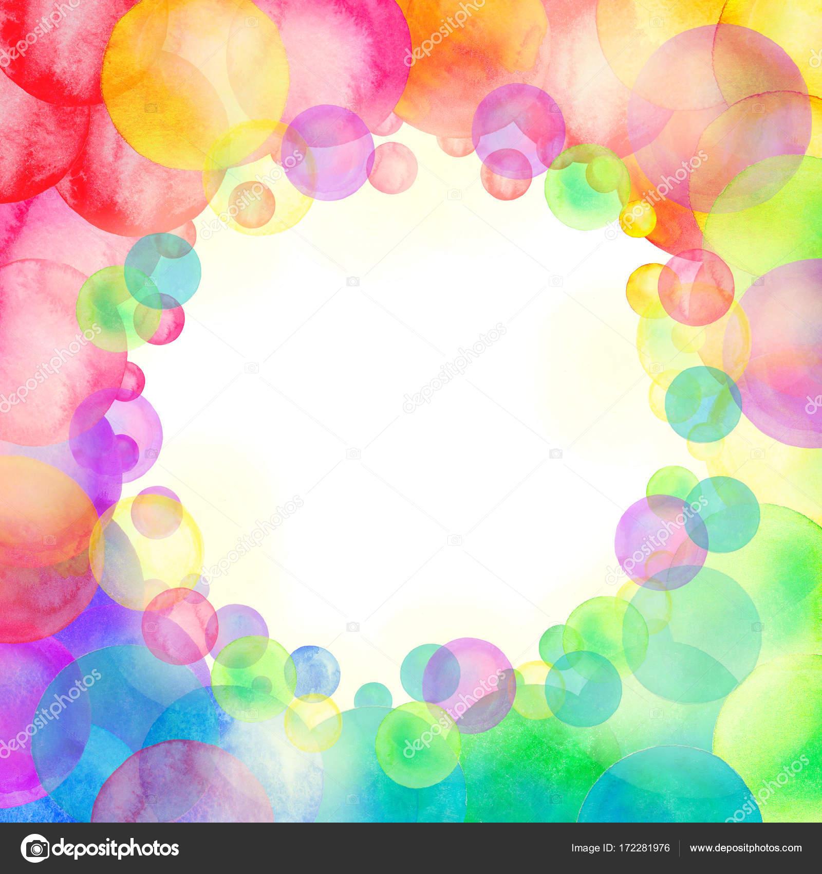 Rainbow Colored Watercolor Confetti Pattern Dense Watercolor