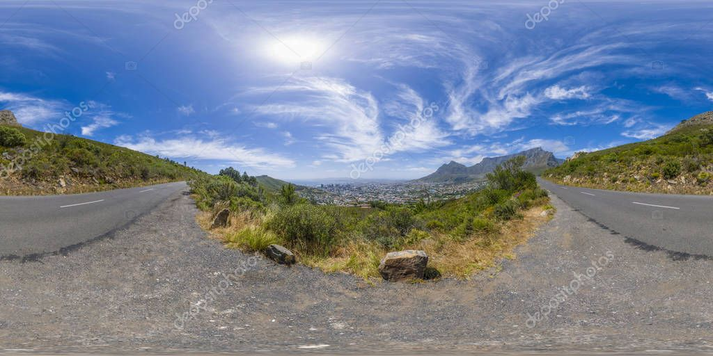 Mountain peaks in Cape Town, South Africa