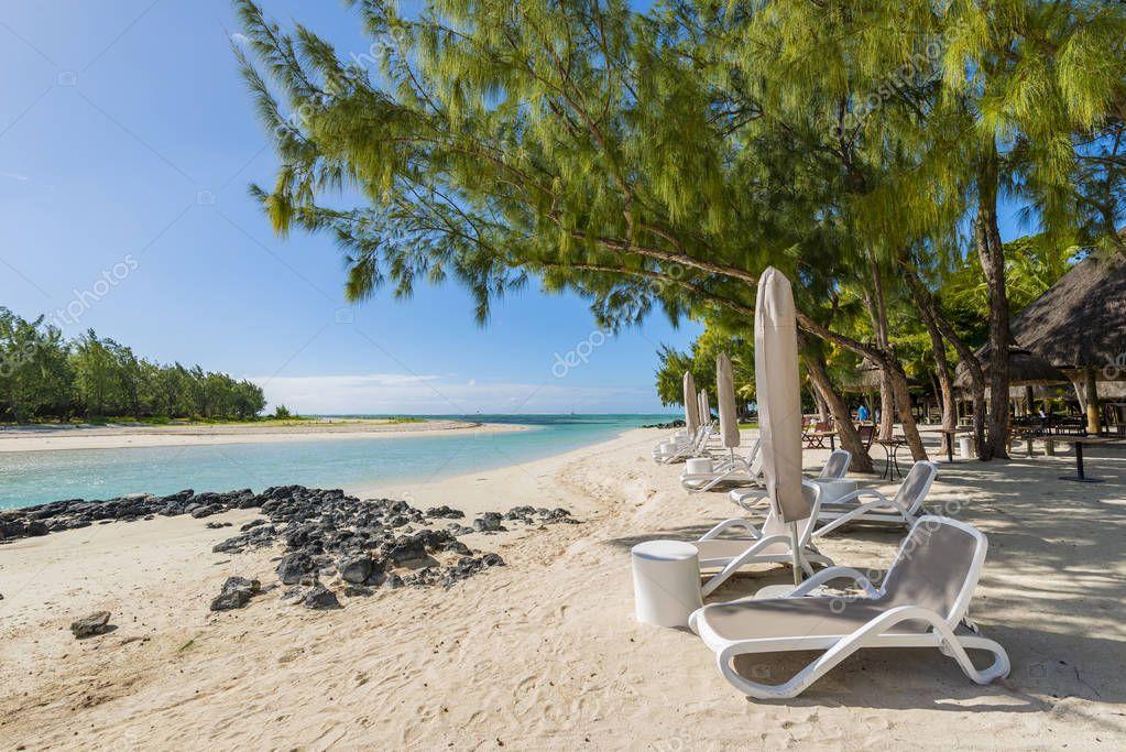 Mauritius tropical paradise beach