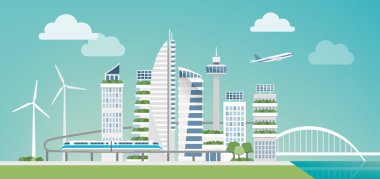 Futuristic green city