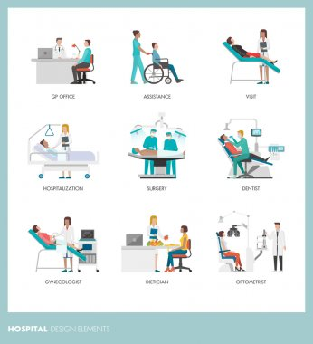 Doctors and healthcare professionals with patients