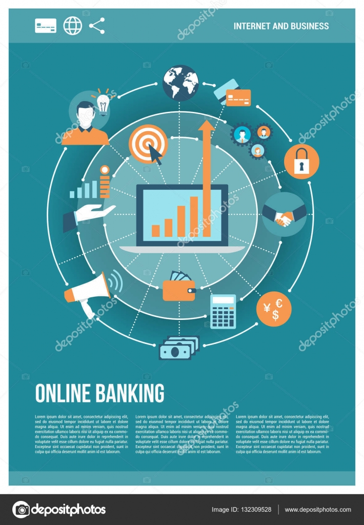 Poster design online - Poster Of Online Banking Signs Stock Vector 132309528