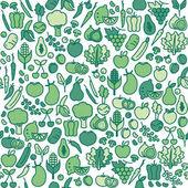 Fotografie vzor bezešvé z čerstvé zeleniny