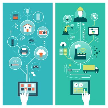 Internet of things and smart industry concepts