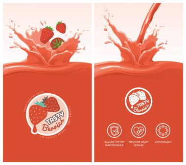 Drink menu with healthy juice splash
