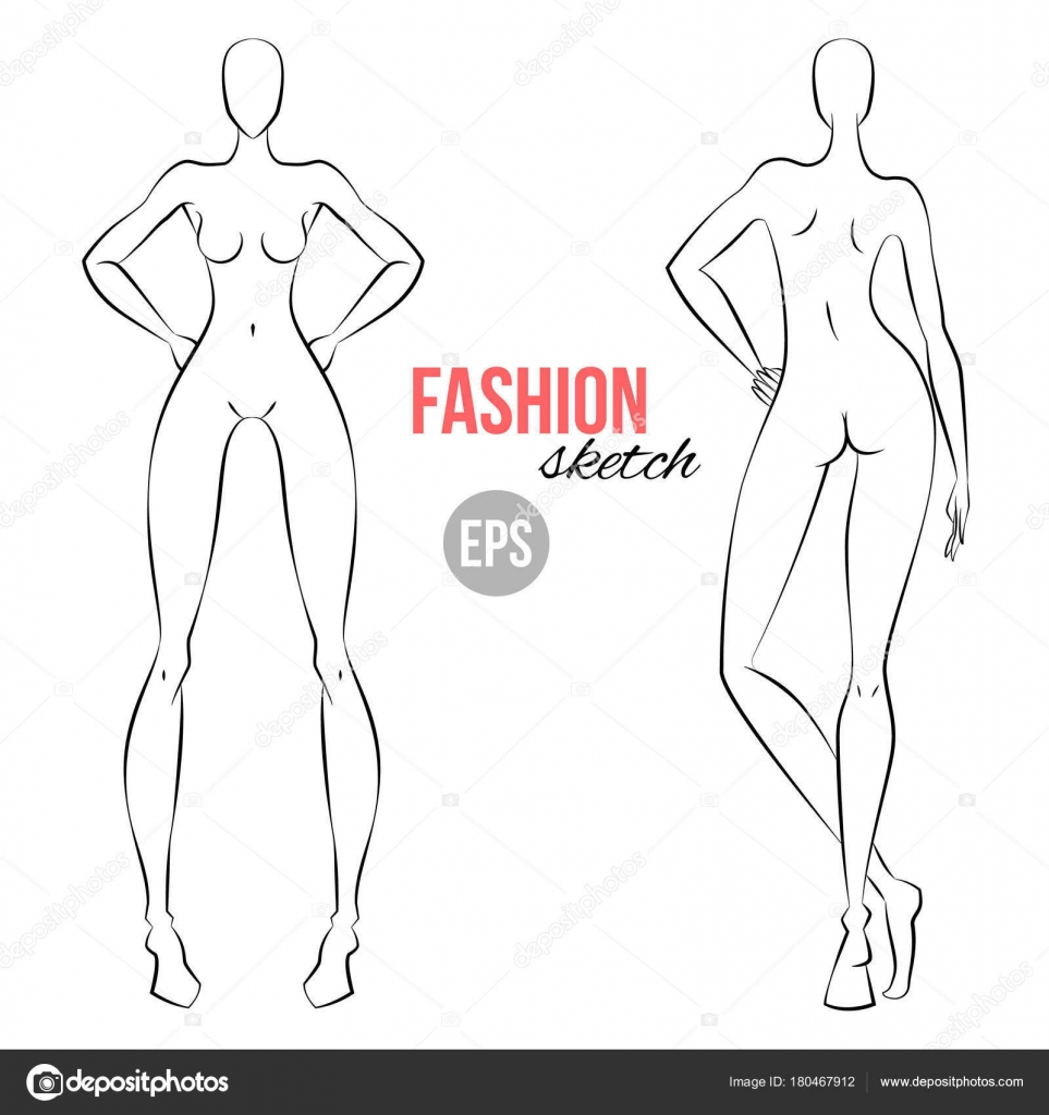 Figure Drawing Template Women Figure Sketch Different